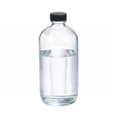 16oz Glass Boston Round Bottle, Polyethylene Cone Lined Caps, case/12