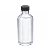 4oz Glass Boston Round Bottle, Rubber Lined Caps, case/24
