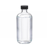 8oz Glass Boston Round Bottle, Rubber Lined Caps, case/12