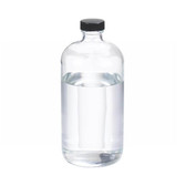 32oz Glass Boston Round Bottle, Rubber Lined Caps, case/12