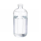 32oz Clear Glass Boston Round Bottle, Poly Vinyl Liner Bulk, case/12