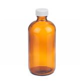 Wheaton W216845 8oz Amber Glass Bottle, PP Cap, PTFE Liner, Case/12