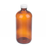 Wheaton W216846 16oz Amber Glass Bottle, PP Cap, PTFE Liner, Case/12