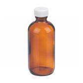 4oz Amber Glass Boston Round Bottle, Poly Vinyl Liner Bulk, case/160