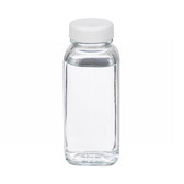 4oz French Square Glass Bottle, Clear, Poly Vinyl Liner, case/24