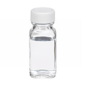 1oz Bottle, French Square, Type III Clear, PTFE Liner, case/48
