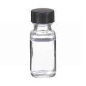 0.5oz Bottle, French Square, Type III Clear, Phenolic Black/Rub Liner, case/48