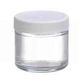 2oz Glass Jar, Straight Side Clear, PP/PTFE Liner, case/24