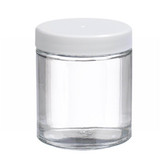 4oz Glass Jar, Straight Side Clear, PP/PTFE Liner, case/24