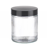 4oz Glass Jar, Straight Side Clear, Phenolic/ Rubber Lined Caps, case/24