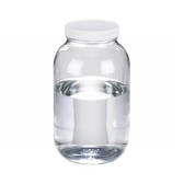 65oz Clear Glass Wide Mouth Packer Bottle, Vinyl Lined PP Caps, case/6