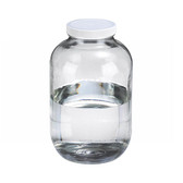 130oz Clear Glass Wide Mouth Packer Bottle, PTFE Lined PP Caps, case/4