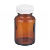 2oz Amber Wide Mouth Packer Bottle, PP/Poly Vinyl Liner, case/24