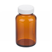 4oz Amber Wide Mouth Packer Bottle, PP/PTFE Liner, case/24