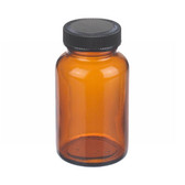 4oz Bottle, Wide Mouth, Packer, Amber, Polyethylene Cone Liner, case/24