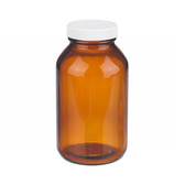 16oz Bottle, Wide Mouth, Pk, Type III Amber, PP/Poly Vinyl L, Bulk, case/60