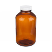 32oz Amber Glass Bottle, PP/Poly Vinyl Liner, Bulk, case/36
