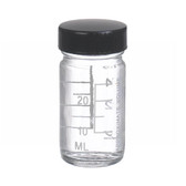 1oz Bottle, Wide Mouth, Type III Clear, Phenolic/Rubber, case/48