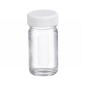 1oz Bottle, Wide Mouth, Straight Side Round, Type III Clear, Poly Vinyl Liner, case/48