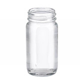 2oz Clear Wide Mouth Straight Side Glass Bottle, No Caps, 38-400 neck, case/288