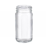 4oz Clear Wide Mouth Straight Side Glass Bottle, No Caps, case/144