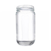 16oz Clear Wide Mouth Straight Side Glass Bottle, No Caps, case/48