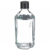 1000mL Media Bottle, Borosilicate Glass, Poly Liner, case/12