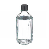 1000mL Media Bottle, Borosilicate Glass, Rubber Lined Caps, case/12