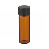 4mL Solid Top Amber Vials In Lab File, PTFE /Rub Liner, case/144