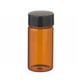 20mL Amber Vials In Lab File, Rubber Lined Cap, case/72