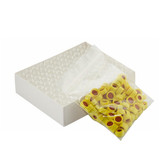 Clear ABC Vials, 12X32, Yellow, PTFE /Silicone Caps, case/100