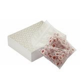Wheaton 12X32 ABC Vials, Natural Hole Caps, PTFE /Silicone, Slit, case/100