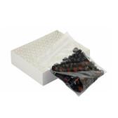 Clear ABC Vials, 12X32, Black Hole Caps, PTFE /Silicone, Slit, case/100
