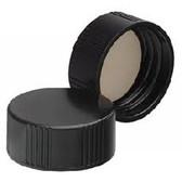 Wheaton W239300 24-400 Black Phenolic Caps, 14B Rubber Liner, Case/144