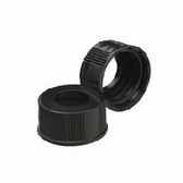 Wheaton W240518 24-400 Open-Top Black Phenolic Caps, No Liner, Case/200