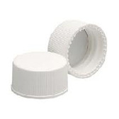15-425 PP Caps, White, PTFE /Silicone, Liner .060, case/1000