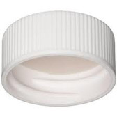 Wheaton W240834 22-400 Polypropylene Caps, White, PTFE /Silicone Lined, Case/100