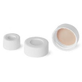 22-400 Open Top PP Caps, White, PTFE /Silicone, Liner .060, case/100