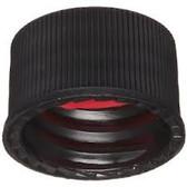 13-425 PP Caps, Black, Bonded R-PTFE-Silicone Septa, case/250