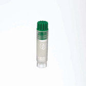 2mL Internal Thread FS CryoElite Vials, Green Cap, Label, sterile, case/500