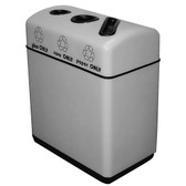 Witt 11RR-361631 Food Court Recycle Bin, 36 gal Custom Fiberglass, 3 Openings