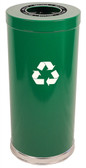 Witt 15RT-1H Metal Recycle Bin, 24 gal, Single Opening Indoor