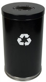 Witt 18RT-1H Metal Recycle Bin, 33 gal, Single Opening Indoor