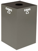 Witt 24GC Square Recycle Bin, 24 gallon GeoCube, Indoor, Choose Color