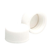Wheaton 239225 13-425 Polypropylene Caps, White, PTFE Liner, Case/144