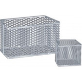 "Aluminum Lab Ware Cleansing Basket, 9"" x 9"" x 9"", Each"