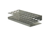 Punched Aluminum Test Tube Rack, Z-Style, 40 Tubes, O.D. 17 mm, Each