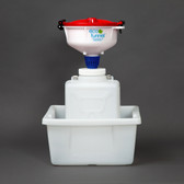 "8"" ECO Funnel, System, 9 Liter, 100mm, Secondary Container"