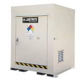 Justrite 911040 Outdoor Safety Locker, Non-Combustible, 4 Drum