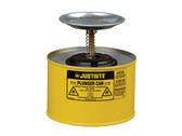 Justrite 10218 Plunger Dispensing Can, 2 Quart, Yellow
